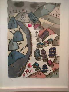 蜂谷初人絵画点(神保町の画廊にて)