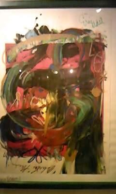 楽屋の壁の絵