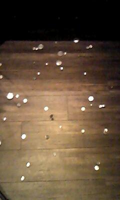 演奏後の床
