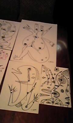 西荻クラップクラップでお絵描き。